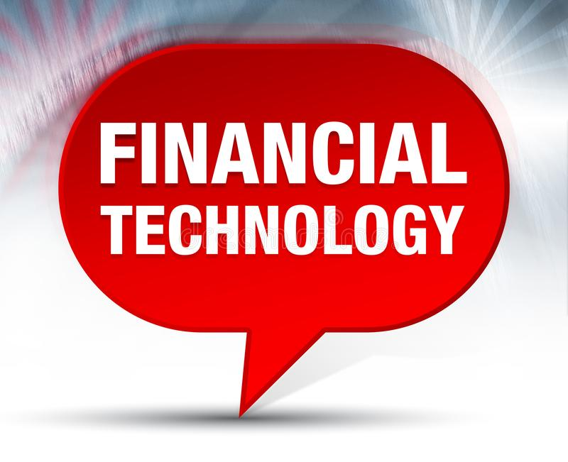 Fondo rojo de la burbuja de la tecnología financiera libre illustration