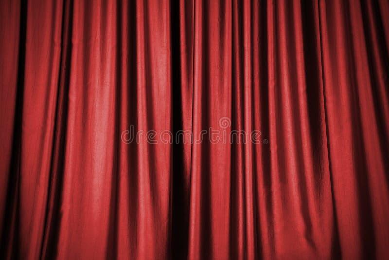 Fondo rojo de la cortina de la etapa fotos de archivo
