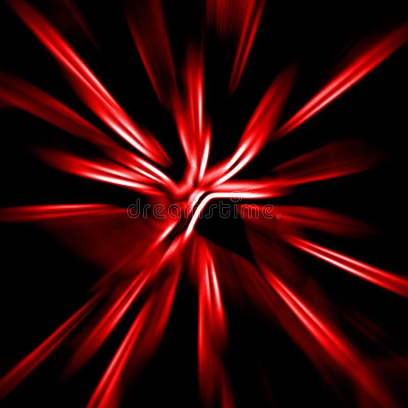 Fondo rojo de la deformación ilustración del vector