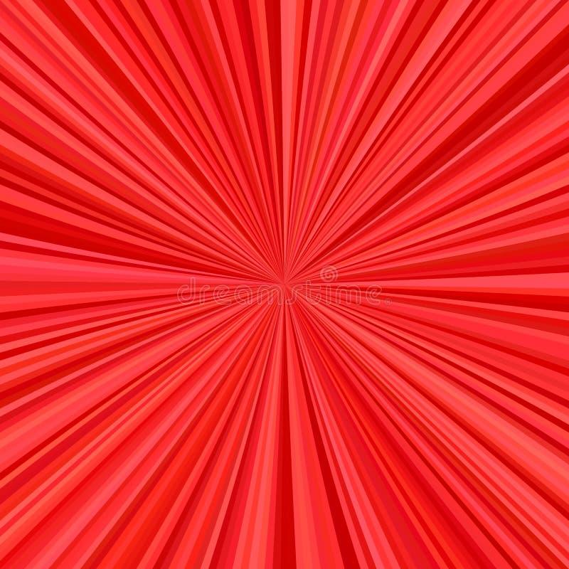 Fondo rojo de la explosión de rayas radiales stock de ilustración