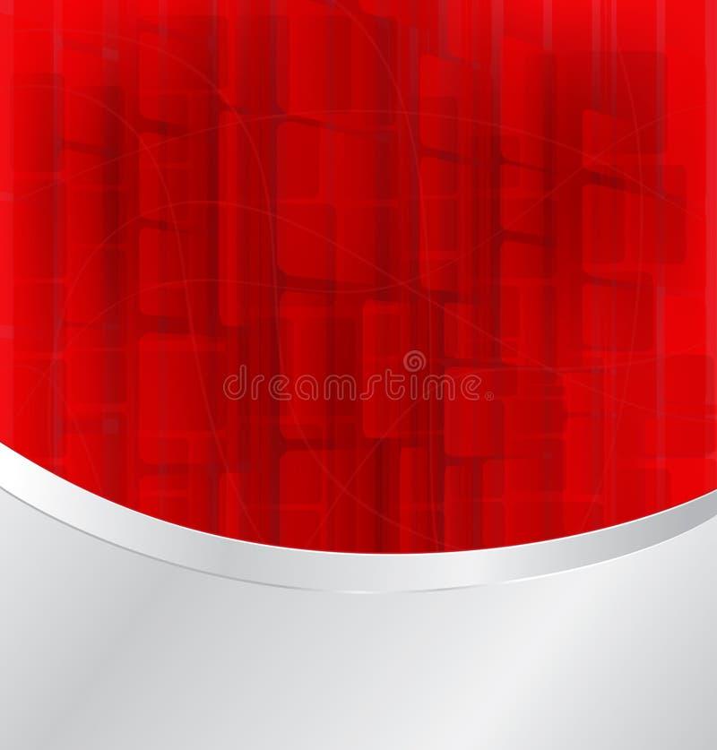 Fondo rojo de la luz del extracto del bokeh libre illustration