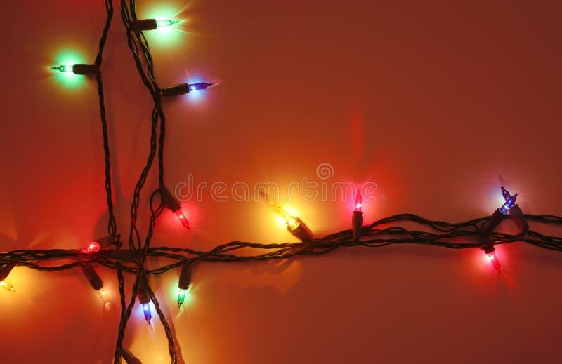 Fondo rojo de la Navidad fotografía de archivo