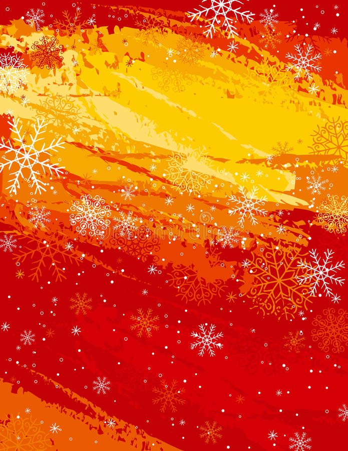 Fondo rojo de la Navidad,   stock de ilustración