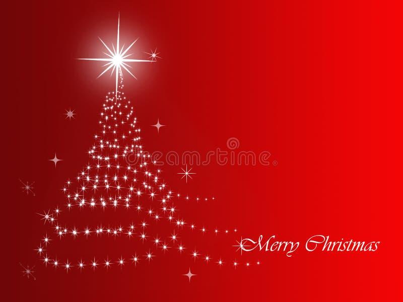 Fondo rojo de la Navidad stock de ilustración