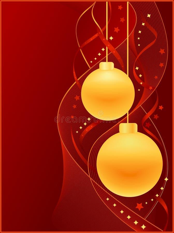 Download Fondo Rojo De La Navidad Con Las Bolas De La Navidad Ilustración del Vector - Ilustración de decoración, estrella: 7151060
