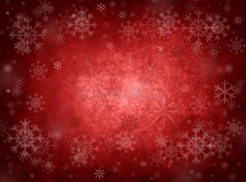 Fondo rojo de la Navidad del hielo ilustración del vector