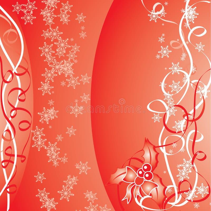 Fondo rojo de la Navidad, ilustración del vector ilustración del vector
