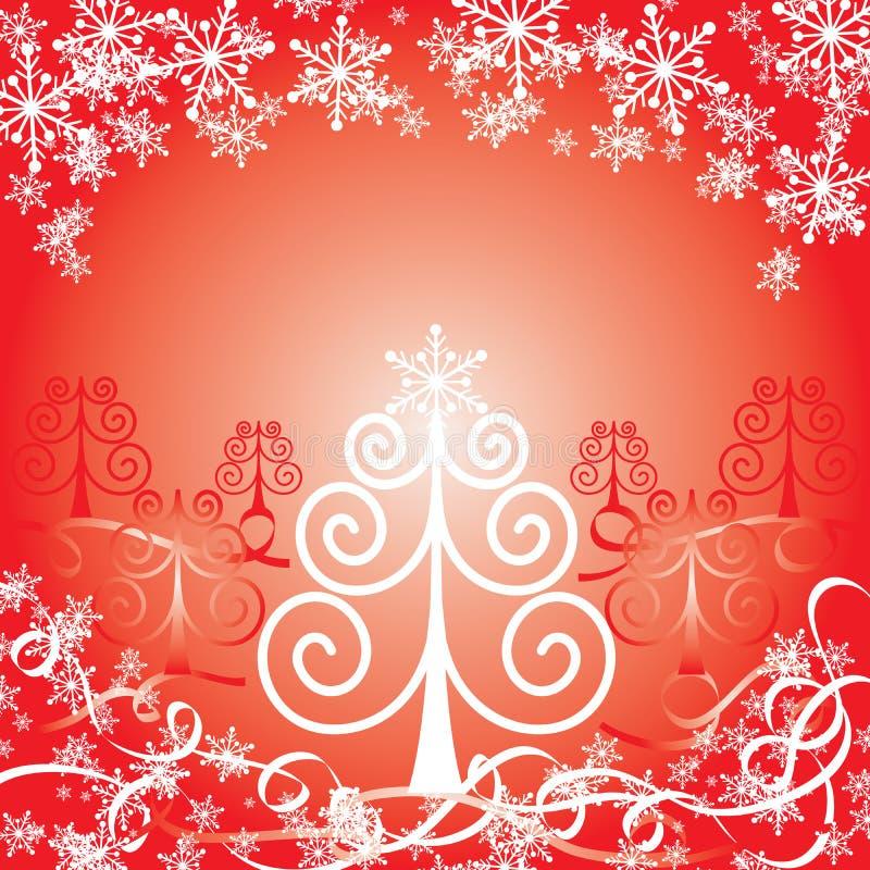 Fondo rojo de la Navidad, ilustración del vector stock de ilustración