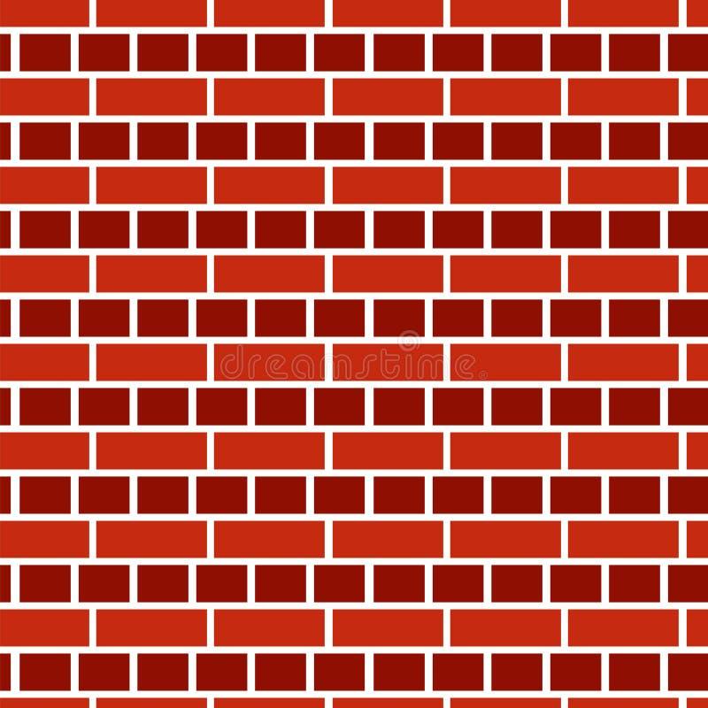 Fondo rojo de la pared de ladrillo Modelo inconsútil del vector ladrillo ilustración del vector