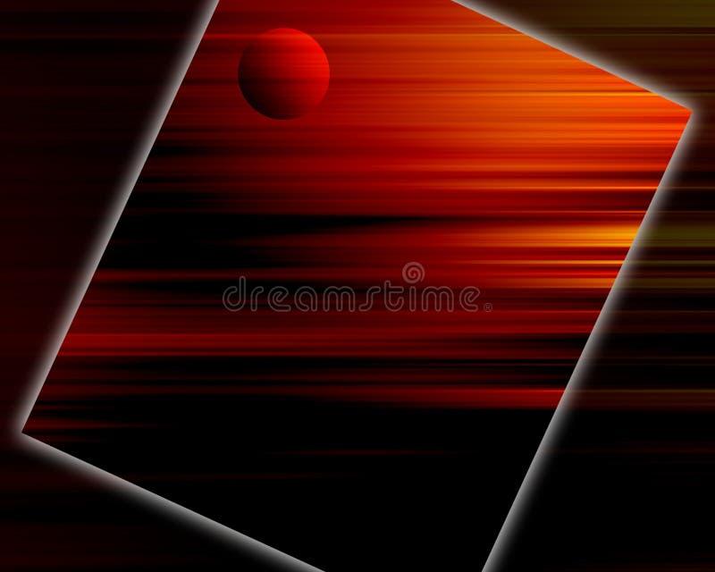 Fondo rojo de la puesta del sol fotografía de archivo