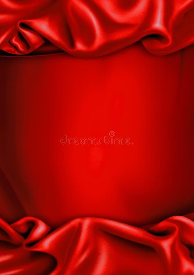 Fondo rojo de la tela del satén imagen de archivo