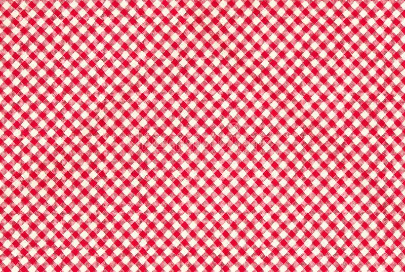 Fondo rojo de la textura del modelo de la guinga del ladrillo refractario imagen de archivo