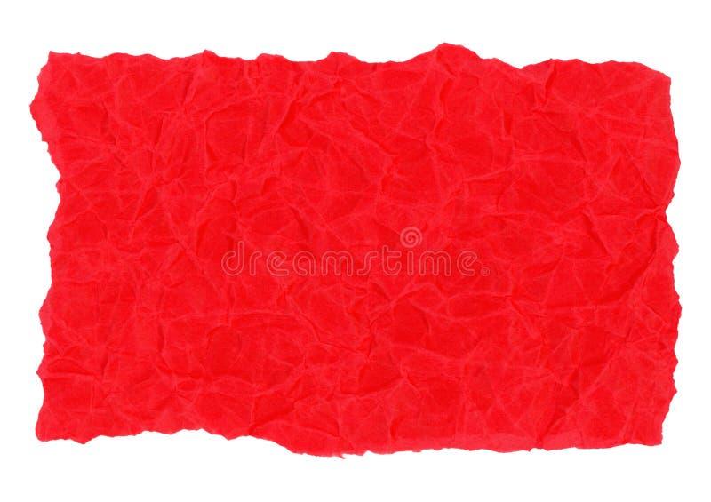 fondo rojo de la textura del papel de pergamino aislado sobre blanco ilustración del vector
