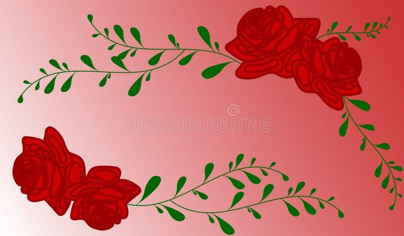 Fondo rojo de las rosas libre illustration