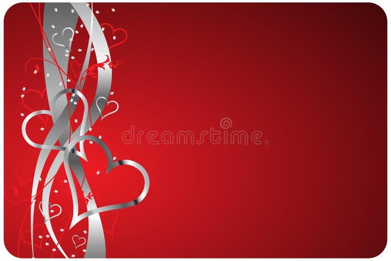 Fondo rojo de las tarjetas del día de San Valentín libre illustration