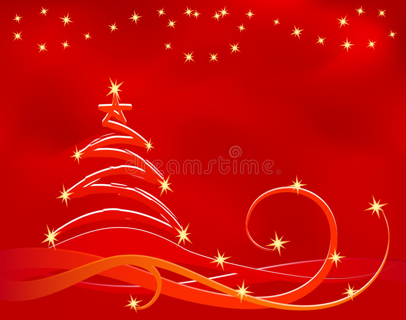 Download Fondo rojo de Navidad ilustración del vector. Ilustración de festivo - 7288118