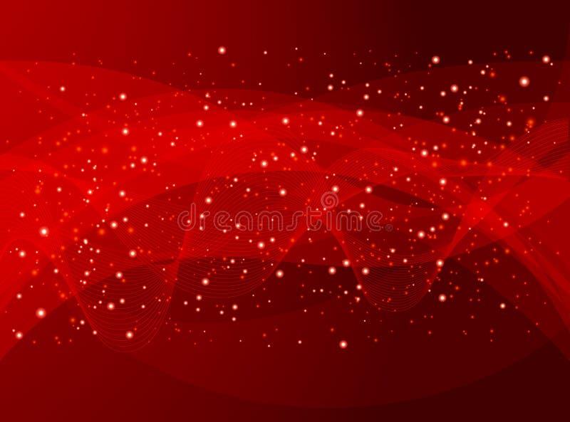 Fondo rojo del día de fiesta libre illustration