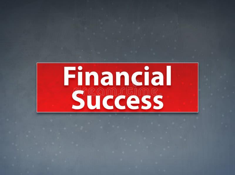 Fondo rojo del extracto de la bandera del éxito financiero ilustración del vector