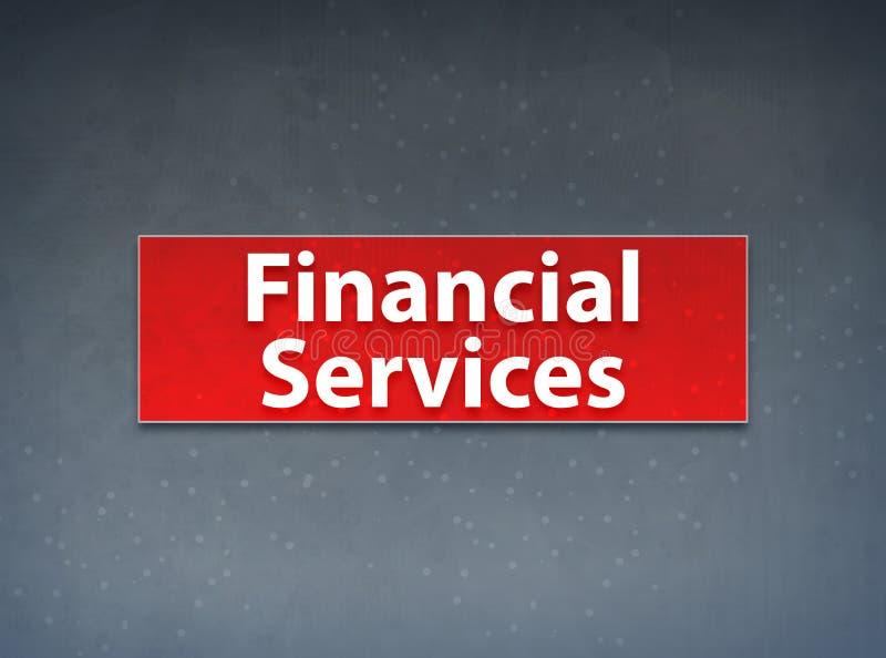 Fondo rojo del extracto de la bandera de los servicios financieros ilustración del vector