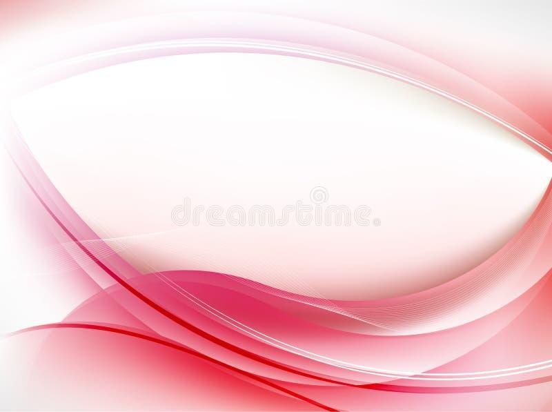 Fondo rojo del extracto de la onda stock de ilustración