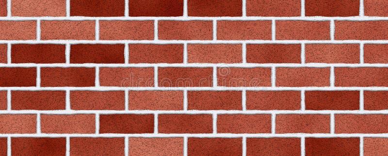 Fondo rojo del extracto de la pared de ladrillo Textura de ladrillos foto de archivo