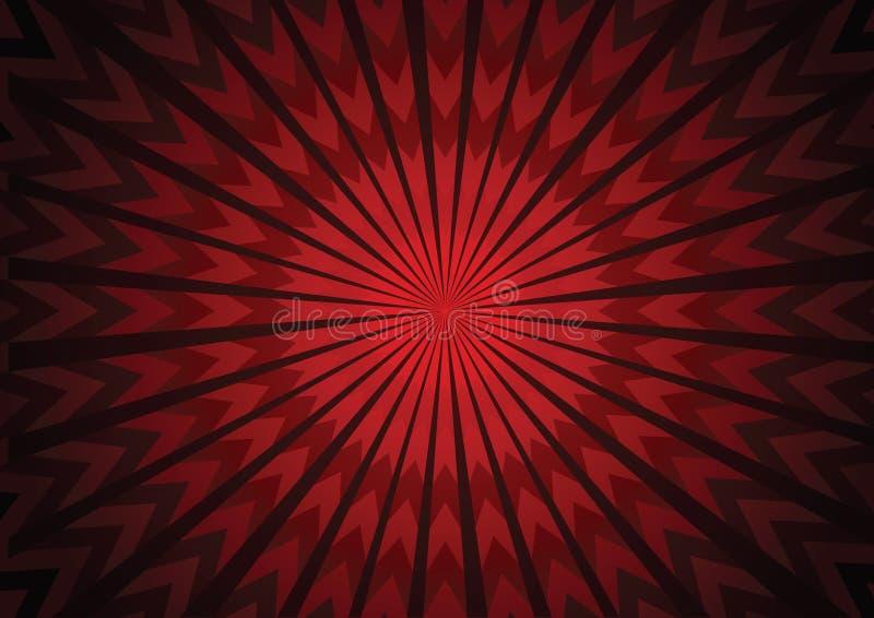 Fondo rojo del extracto del starburst de la flecha del vector imagen de archivo
