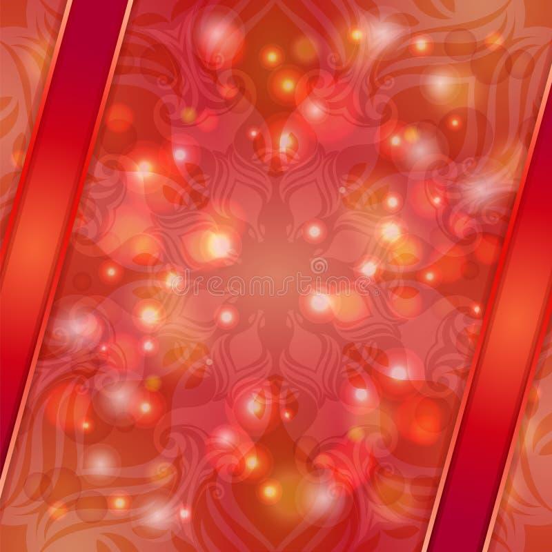 Fondo rojo del extracto del vector del vintage ilustración del vector