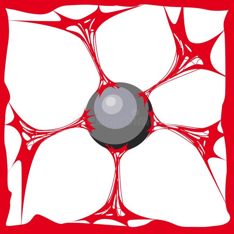 Fondo rojo del limo Limo realista de la textura de la historieta La sustancia de Jelly The del pegamento está pegajosa, tensión,  ilustración del vector