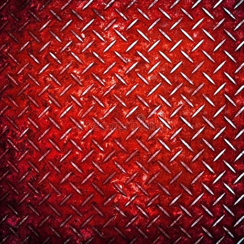 Fondo rojo del metal del diamante fotos de archivo
