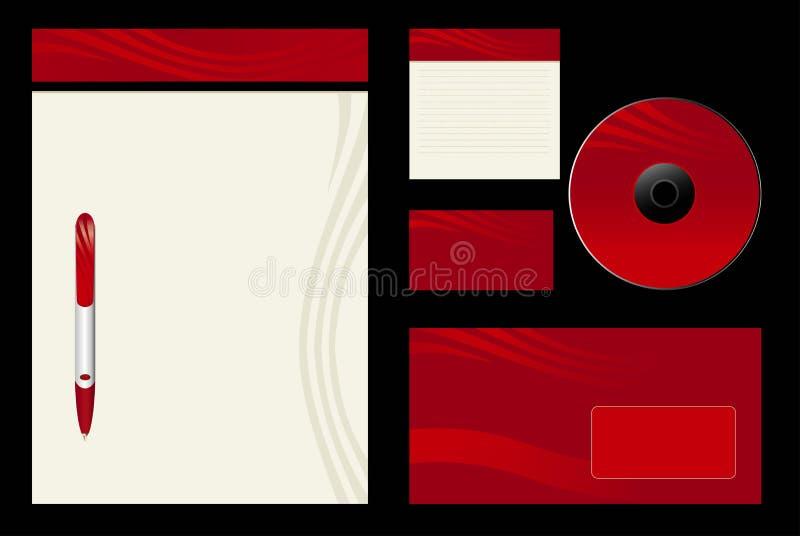 Fondo rojo del modelo stock de ilustración