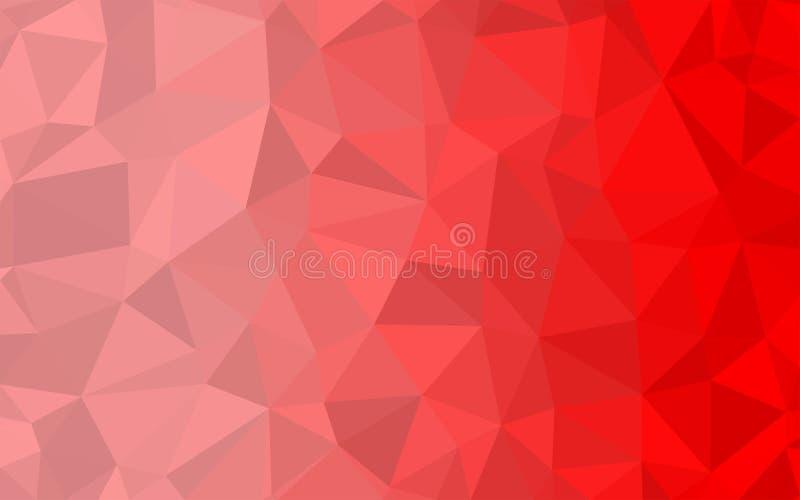 Fondo rojo del modelo del extracto del polígono del arte libre illustration