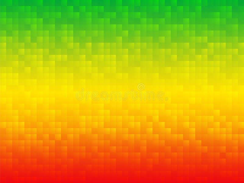 Fondo Rojo Del Mosaico Del Verde Amarillo Stock De