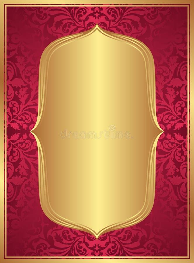 Fondo rojo del oro libre illustration