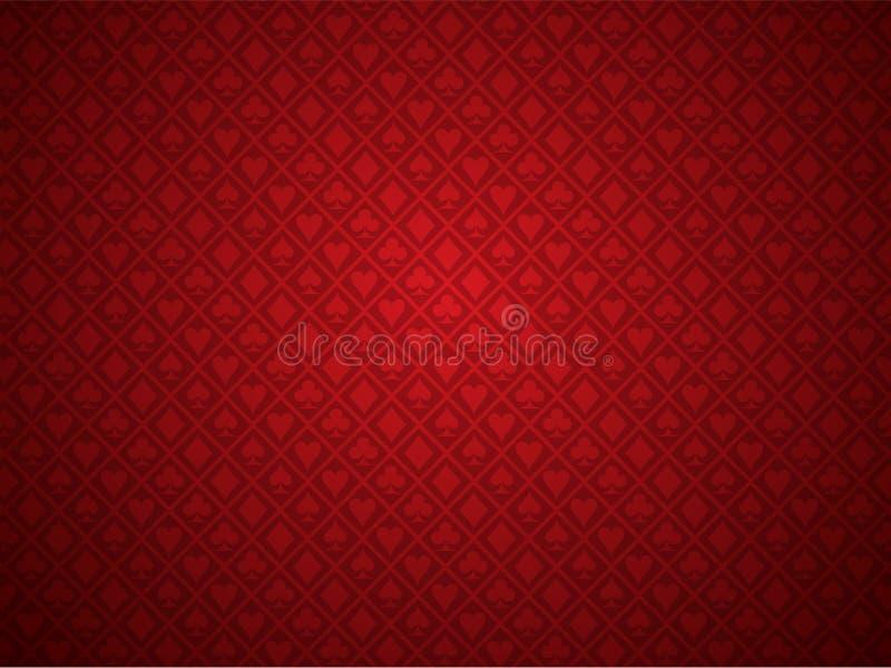 Fondo rojo del póker libre illustration
