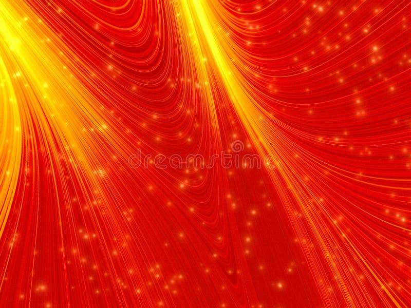 Fondo rojo del resplandor stock de ilustración