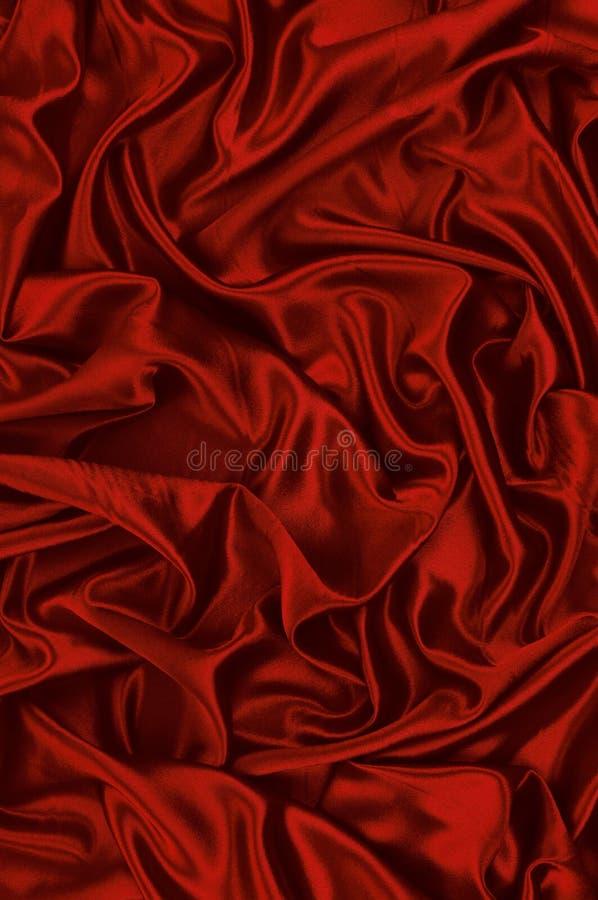 Fondo rojo del satén imagen de archivo