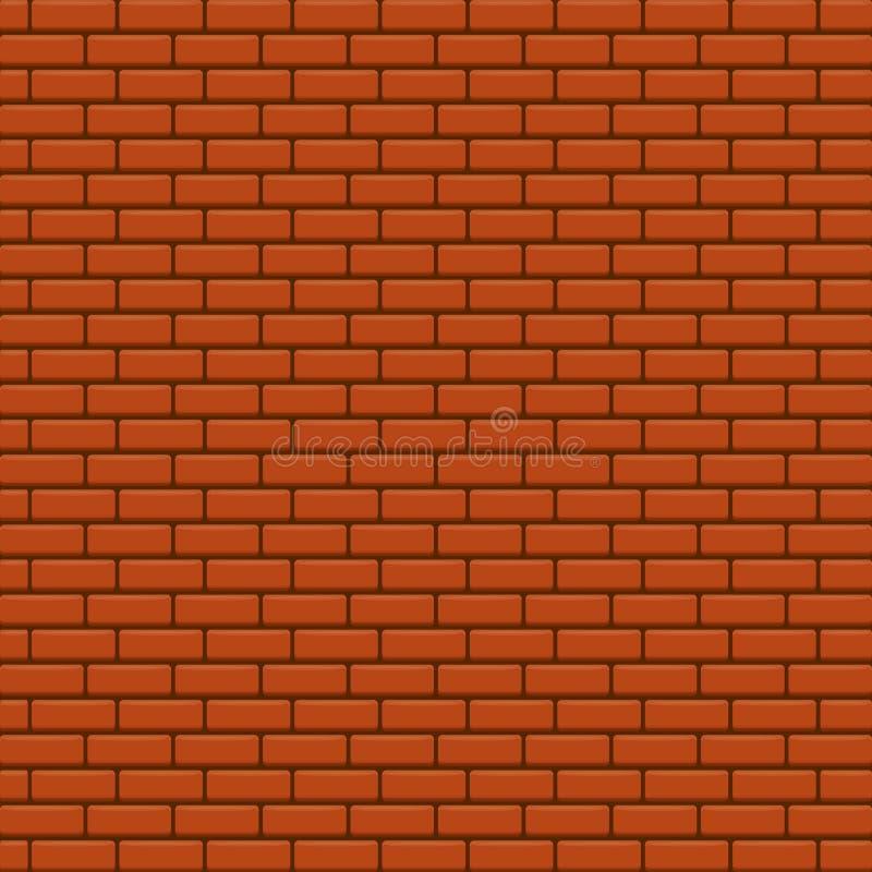 Fondo rojo del vector de la pared de ladrillo stock de ilustración