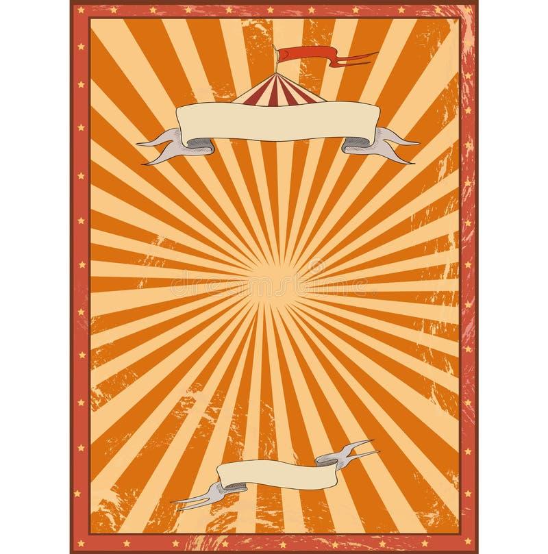 Fondo rojo del vintage del circo para un cartel stock de ilustración