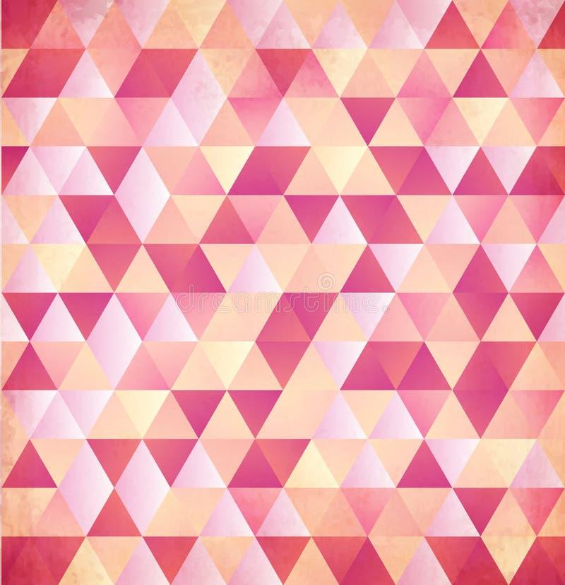 Fondo rojo del vintage del triángulo del extracto del vector libre illustration