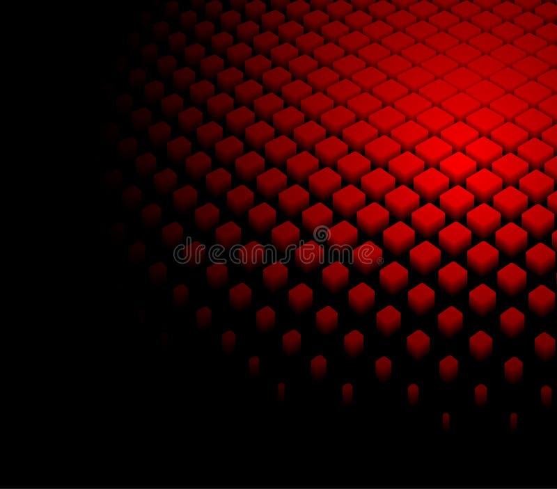 fondo rojo dinámico abstracto 3d stock de ilustración