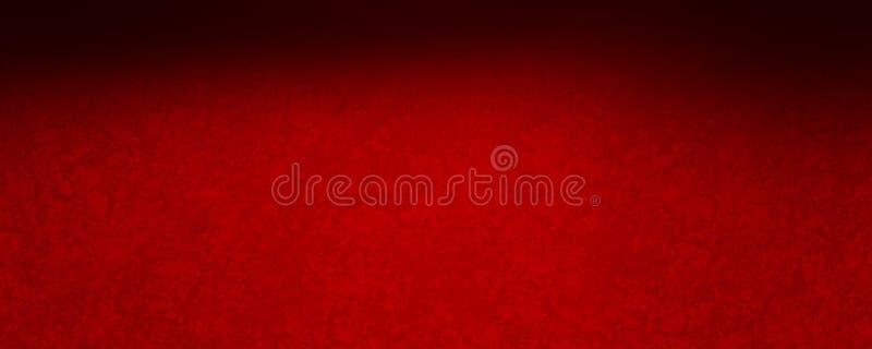 Fondo rojo elegante con la frontera superior negra y el diseño texturizado vintage apenado del grunge libre illustration