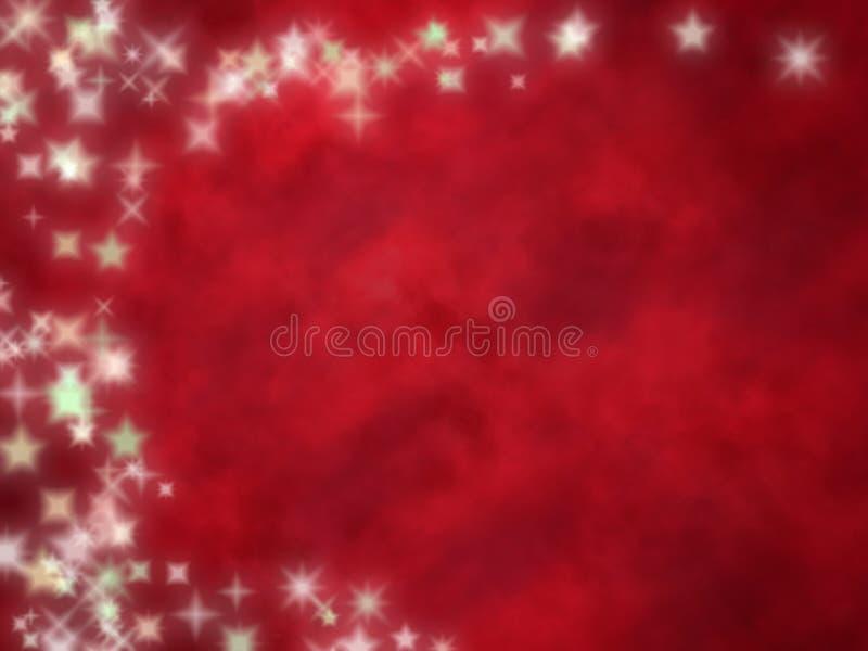 Fondo rojo estrellado foto de archivo