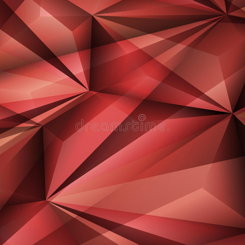 Fondo rojo geométrico abstracto Ilustración del vector stock de ilustración