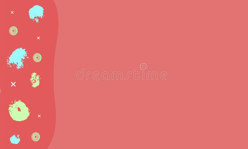 Fondo rojo horizontal abstracto Ilustración del vector ilustración del vector