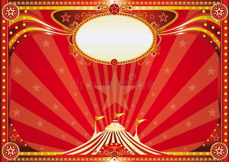 Fondo rojo horizontal del circo ilustración del vector