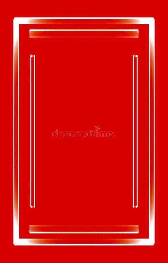 Fondo Rojo Marco Blanco De Las Tiras Para Su Diseño Ilustración del ...