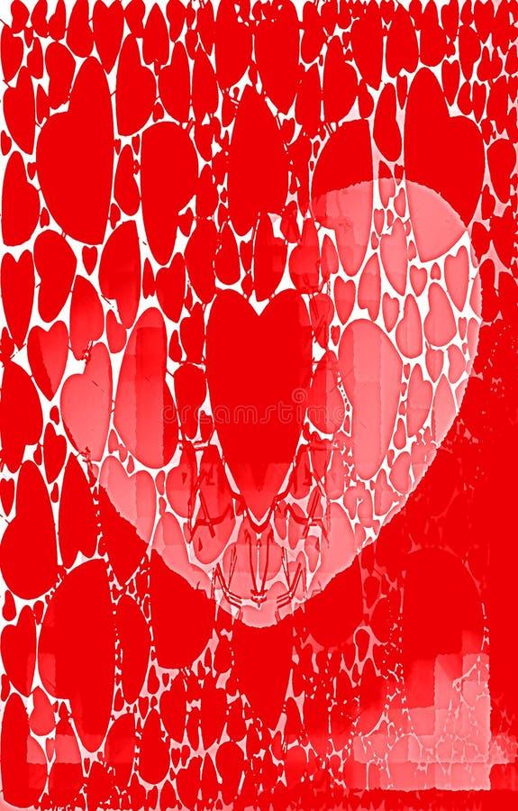 Fondo rojo modelo único Efecto de la pintura de aceite libre illustration
