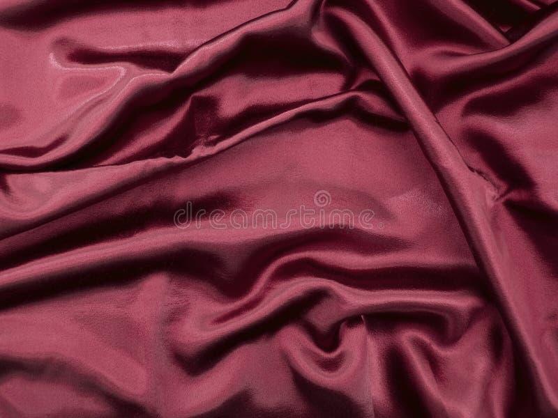 Fondo rojo natural de la textura de la tela del satén fotos de archivo libres de regalías