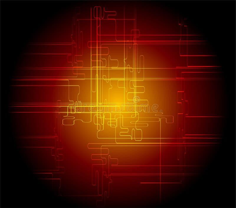 Fondo rojo oscuro abstracto técnico libre illustration
