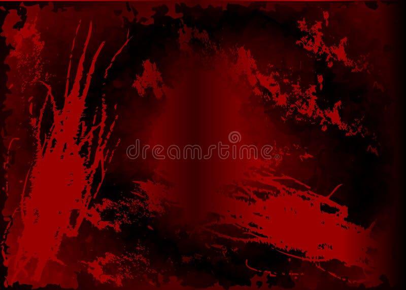 Fondo rojo oscuro de la acuarela, protector de pantalla monocromático Fondo negro abstracto con los rasguños Fondo del grunge de  stock de ilustración